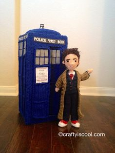 PATTERNS Choose Two Doctors Who Time by craftyiscoolcrochet