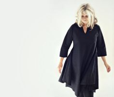 Black Cotton Tunic Dress di 13threads su Etsy