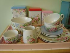 crockery and tins