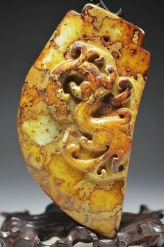 Archaize Chinese classical jade carved Weapon  by MOSTLYOLDPAWN, $350.00