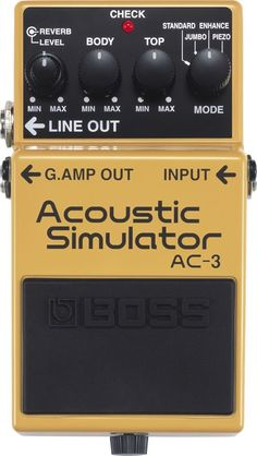 Boss AC-3 Acoustic Simulator. Interested to see how one of these sounds. Could be good for gigging, so I don't have to switch guitars.