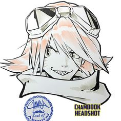 ChamBOOK Headshot - Haruko Haruhara by theCHAMBA