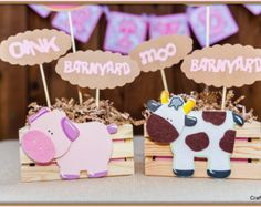 Barnyard party centerpieces (set of 2), Farm theme party, Cowgirl party, Cowgirl party centerpiece, Girls Western Party, Personalized party