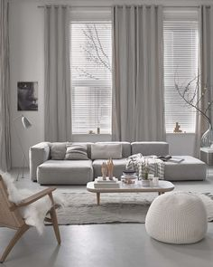 Find your favorite Minimalist living room photos here. Browse through images of inspiring Minimalist living room ideas to create your perfect home. Living Room Grey, Living Room Interior, Home Living Room, Apartment Living, Living Room Designs, Living Room Decor, Cozy Living, Interior Paint, Small Living