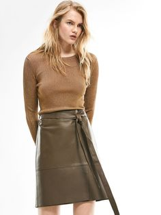 Autumn Spring summer 2017 Women´s LIMITED EDITION NAPPA CROSSOVER SKIRT at Massimo Dutti for 311.5. Effortless elegance!