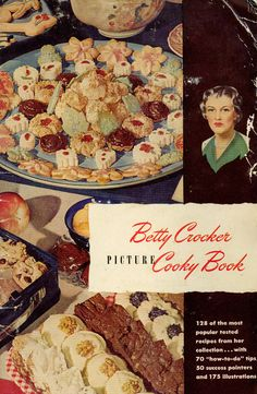 betty crocker christmas cookbooks | Vintage 1940s Cookbook Betty Crocker's Picture Cooky Book - Christmas ...