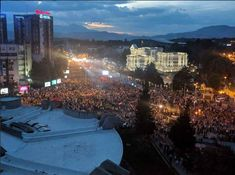 Thousands supporters of Macedonia's opposition VMRO-DPMNE party protested on Saturday against changing the name of the country and to demand an earl… Macedonia People, Macedonia News, Seattle Skyline, Country, Travel, Viajes, Rural Area, Traveling, Country Music