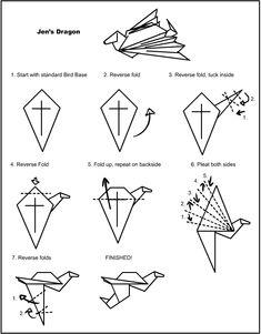 Jen's Dragon - Origami Instructions by VampirateMace