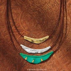 """N3114-CAYMAN NECKLACE- Adjusts 17 to 19"""" Length; Artisan crafted from .925 SS, Patina Brass, & Brown Cotton Cord. VIEW PAGE: 27E on my webpage (Safe Link) www.mysilpada.com/paula.thibault ***ALL Jewelry has Lifetime Guarantee and 2 Month Returns at No Cost to you. HOLIDAY RETURNS til JAN 31st 2015*"""