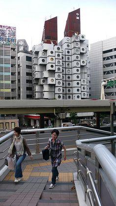 Tokyo - Nakagin Capsule Tower - Architect Kisho Kurokawa, 1972