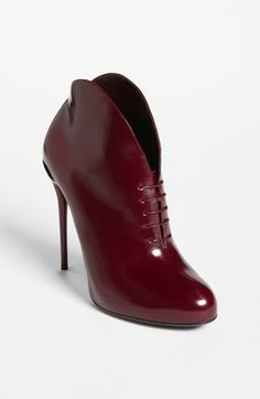Gucci 'Kim' Bootie available at #Nordstrom, looks even better in this red wine colour than in black !