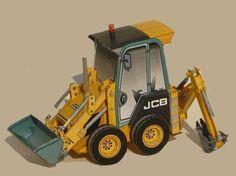 JCB 1CX Backhoe Loader Free Construction Vehicle Paper Model Download