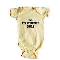 OMG Relationship Goals Relationships Dating Boyfriend Boyfriends Girlfriend Girlfriends Husband Wife Meme Memes SGAL1 Baby Onesie / Tee
