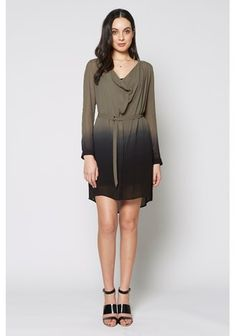 Ombre Shirt Dress Kh