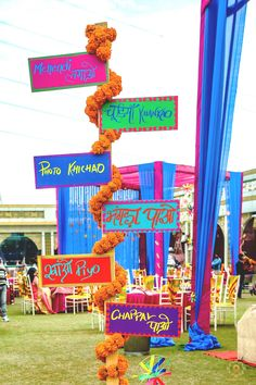 19 Top Trending DIY Décor Ideas for Your Mehndi Ceremony at Home Best Picture For wedding events poster For Your Taste You are looking for something, and it is going to tell you exactly what you are l Indian Wedding Theme, Desi Wedding Decor, Wedding Hall Decorations, Wedding Entrance, Wedding Props, Wedding Signs, Wedding Events, Wedding Parties, Wedding Photoshoot