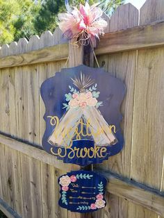 Floral Teepee Hospital Baby Door Hanger - Emery Baby Name - Ideas of Emery Baby Name - - Floral Teepee Hospital Baby Door Hanger by Southern Pickens
