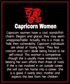 Capricorn woman personality characteristics