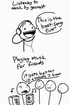 Playing music for friends