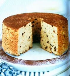 Espresso–Chocolate Chip Angel Food Cake recipe