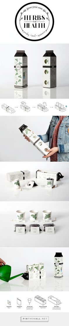 Herbs for Health student concept packaging designed by Duncan Anderson PD