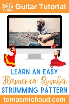 Flamenco music is all about the feel and the rhythm of the song. In this guitar lesson, you will learn an easy version of a strum called a Rumba strum. There are a lot of variations to this Flamenco strum. While it might sound complicated, it is pretty simple. You will learn step-by-step how to play this stylish strumming pattern. You won't need your pick for this guitar lesson because we're using a thumb and index finger technique. #flamencoguitar #spanishguitar #learnguitar Flamenco Guitar Lessons, Acoustic Guitar Lessons, Guitar Tips, Guitar Online, Guitar Lessons For Beginners, Guitar Tutorial, Learn To Play Guitar, Learn Spanish, Music Education