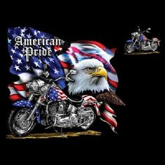 Bike Week T-shirt - American Pride Tee American Pride Motorcycle Mens Biker Shirts Bike Week T-shirt - American Pride Tee Old glory never looked so Patriotic Pictures, Eagle Pictures, American Pride, American Flag, Harley Davidson Logo, Patriotic Outfit, I Love America, Bald Eagle, Cross Stitch Patterns