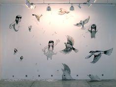 Mariana Magdaleno. Coincidencias. Tinta y acrilico sobre muro