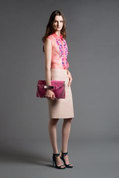 LOVE THE DETAIL AT THE FRONT OF THE SHIRT  Alberta Ferretti Resort 2013