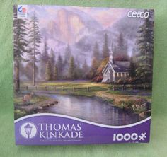 CEACO THOMAS KINKADE JIGSAW PUZZLE VALLEY CHAPEL 1000 PCS #3310-46 NIB