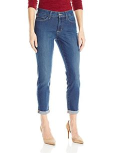 ffb539d20bcd2 NYDJ Women s Plus-Size Anabelle Skinny Boyfriend Jeans in Oak Hill at Amazon  Women s Jeans store