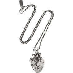Pamela Love Burnished-silver heart locket necklace ($365) ❤ liked on Polyvore
