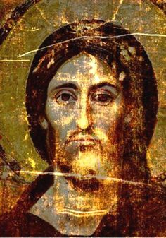 Christ Pantocrator | Shroud of Turin Blog -- comparing the painting of Christ Pantocrator with the image on the Shroud of Turin--notice how well the images match.