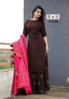 Kurtis & Kurtas Women's Polka Dot Printed Rayon Kurti Fabric: Kurti - Rayon, Dupatta - Rayon Sleeves: 3/4th Sleeves Are Included Size: Kurti - M - 38 in, L - 40 in, XL - 42 in, Dupatta - 2 Mtr Length: Kurti - Up To 54 in Type: Stitched Description: It Has 1 Piece Of Women's Kurti & 1 Piece Of Dupatta Work: Printed Sizes Available: M, L, XL   Catalog Rating: ★4.1 (3141)  Catalog Name: Women's Polka Dot Printed Rayon Kurti CatalogID_122956 C74-SC1001 Code: 645-1019474-
