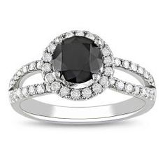 @Overstock - Round-cut black and white diamond ring14-karat white gold jewelryClick here for ring sizing guidehttp://www.overstock.com/Jewelry-Watches/Miadora-14k-Gold-1-1-2ct-TDW-Black-and-White-Diamond-Ring-G-H-I2/5804174/product.html?CID=214117 $889.99