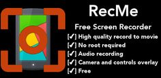 RecMe Screen Recorder is one of the best screen recorder for your screen and audio.  The app is free with NO TIME LIMIT, NO WATERMARK, w...
