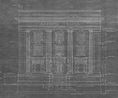 The original blueprints for the Franklin Masonic Temple can be see in the Johnson County Museum library.