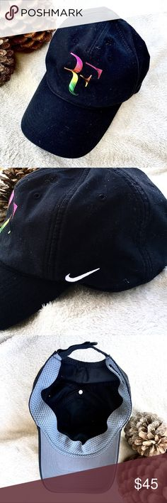 Roger Federer Cap, Nike Roger Federer, Mesh Band, Fitted Caps, One Size Fits All, Black Nikes, Baseball Cap, Nike Men, Fashion Design