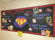 Growth mindset bulletin board:  The Power of YET! #growthmindset