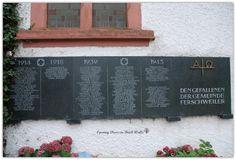 Veterans Memorial in Ferschweiler, Germany   Opening Doors in Brick Walls