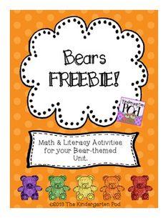 Bear Activities FREEBIE!