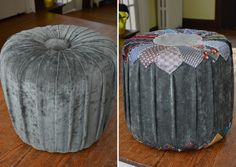 DIY Necktie Ottoman for Father's Day