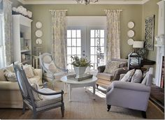 look at all that seating... but not stuffed looking... Library_Room_Thistlewood_Farm