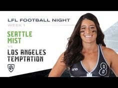 The Anniversary Season of the LFL kicks-off with an iconic match-up of the KK Matheny led Seattle Mist vs Ashley 'The Snake' Salerno and the Los Angeles. Seattle Mist, Lingerie Football, Legends Football, Mists, Youtube, Seasons, Knights, Nashville, Denver
