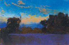 """Fall Sunset, Minervaville"", oil, 4 x 6"", © Mary Bentz Gilkerson"