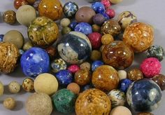 Most Valuable Marbles   German Handmade Non-Glass Marbles - 1850's to Early 1900's
