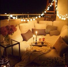 Candle Light Pillow Wine Love