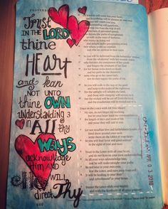 Proverbs 3 Trust in the Lord with All Your Heart! #biblejournaling #illustratedfaith #biblejournalingcommunity http://ift.tt/1KAavV3