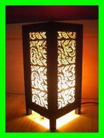 ORIENTAL HOME DECOR BEDSIDE TABLE LAMP LANTERN NIGHTLIGHT LIGHTING Lai Thai TBM1