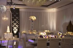 Empty Vase Wedding | Four Seasons Beverly Hills, minimal and modern, white and pewter with a touch of purple, wedding flowers
