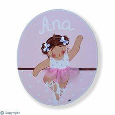 Placa de puerta personalizada: Niña bailarina (ref. 12156-03)